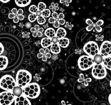 Abstract background with geometrical ornament and seamless flora