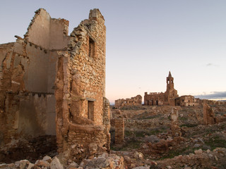 Spanish village destroyed in war