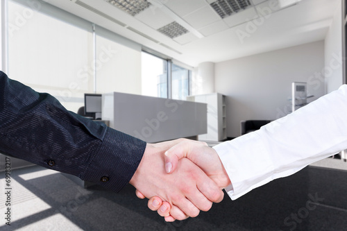 canvas print picture Business handshake