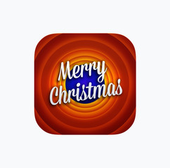 Merry Christmas app icon template. Vector illustration
