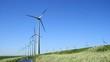 Modern wind turbines generating clean energy.