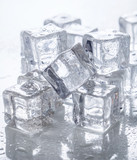 Ice cubes on the table