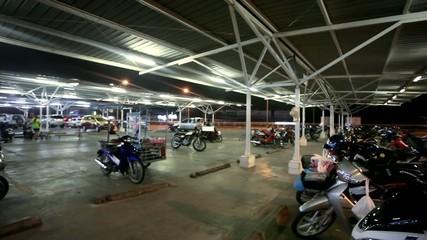 KOH SAMUI, THAILAND 16 JULY 2014 Many motorbikikes at the
