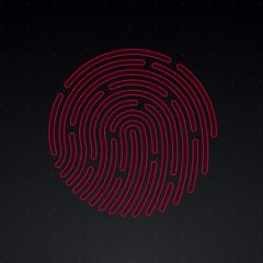 HUD Interface Vector fingerprint