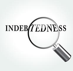 Vector indebtedness concept illustration