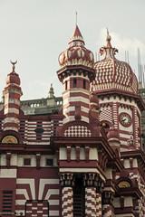 The Jami Ul Alfar Mosque in Colombo