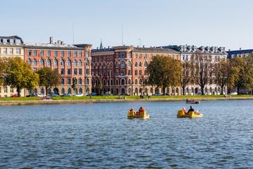 Copenhagen cityscape. View on Copenhagen canal