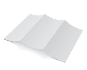 3d model of blank leaflet lying