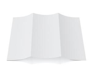3d model of blank leaflet lying