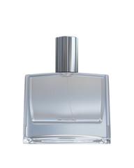 Male blank perfume bottle isolated on white background
