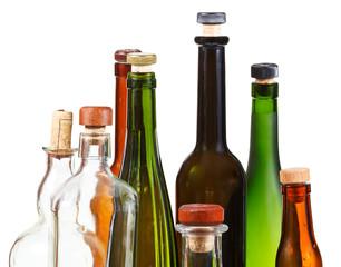 many empty closed wine bottles