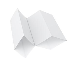 3d model of blank leaflet lying isolated on white