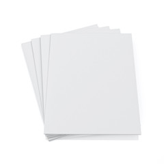 3d model of blank magazines isolated on white background