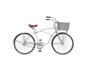 3d model of white retro bicycle