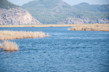 beautiful panorama of natural Turkey