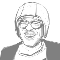 smiling man in a helmet and goggles