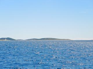 Adriatic Sea in Dalmatia under blue sky