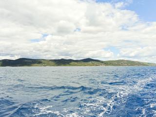 green shore of Adriatic Sea in Dalmatia