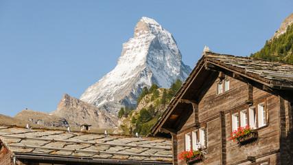 Zermatt, Dorf, Feriendorf, Alpen, Sommer, Wanderung, Schweiz