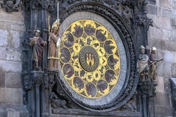 Astronomical clock calendar.