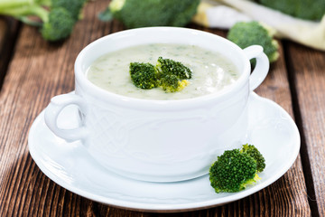 Portion of Broccoli Soup