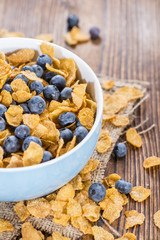 Cornflakes and fresh Blueberries