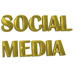 Social Media Word 3D image background design