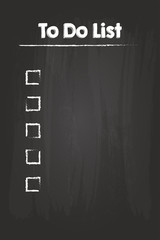 To Do Check List On Blackboard