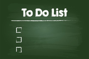 To Do Check List On Green Board