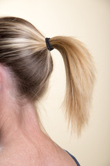 Woman with ponytail hairstyle