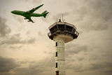 Fototapeta airport control tower