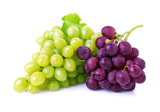 Fototapety Grapes isolated on white.