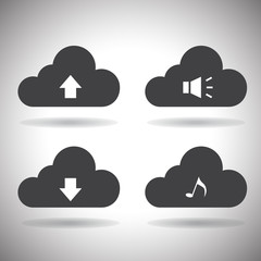 Cloud Computing Icons.Vector.