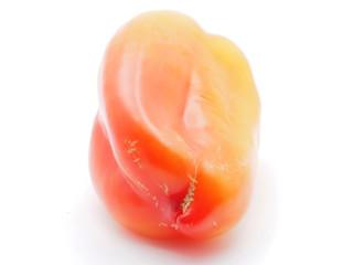 orange pepper on white background