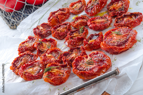 canvas print picture dried tomatoes