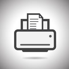 printer icon.vector