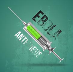 Ebola antivirus concept with siring
