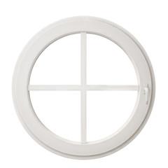 white circle window frame isolated on white background
