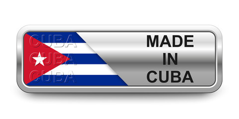 Made in Cuba Button