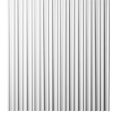 blank white curtain on white background, 3d