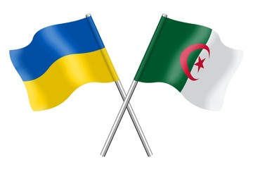 Flags: Ukraine  and Algeria