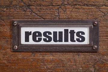 results- file cabinet label