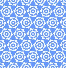 Seamless hexagons blue texture
