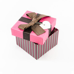 pink gift box opened