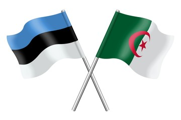 Flags: Estonia and Algeria