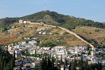 district Albayzin and Sacromonte in Granada, Andalusia, Spain