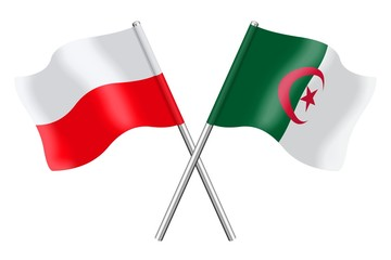 Flags: Poland and Algeria