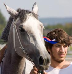 The jockey and stallion.