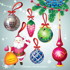christmas-tree decorations set
