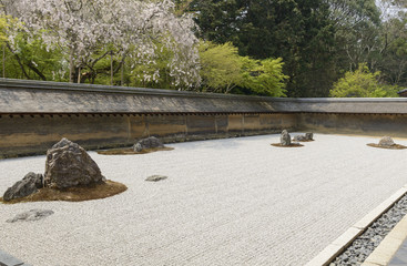 Ryoan-ji zen garden in Kyoto, Japan